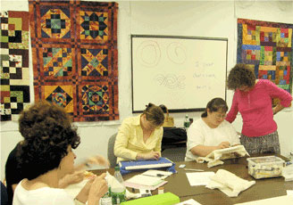 "City Quilter classroom with ""Featured Teacher"" Judy Doenias"
