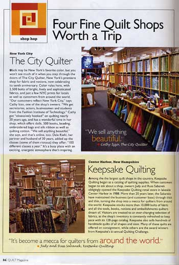 quilt magazine featuring the city quilter